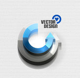 Vector 3d glossy arrow circle hi-tech concept Royalty Free Stock Photography