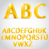 Vector 3d golden alphabet illustration Stock Photo