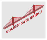 Vector 3d golden gate bridge san francisco Royalty Free Stock Images