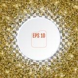 Vector 3d golden stars confetti. Falling stars confetti backgrou Stock Photos