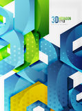 Vector 3d hexagon background Stock Photo