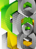 Vector 3d hexagon background Royalty Free Stock Images