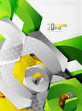 Vector 3d hexagon background Stock Images