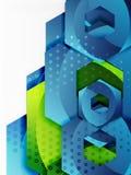 Vector 3d hexagon background Royalty Free Stock Photo