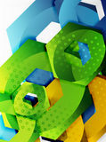 Vector 3d hexagon background. Vector 3d effect hexagon background Royalty Free Stock Photo