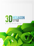 Vector 3d hexagon background. Vector 3d effect hexagon background Royalty Free Stock Image