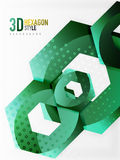 Vector 3d hexagon background. Vector 3d effect hexagon background Royalty Free Stock Images