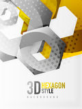 Vector 3d hexagon background Stock Photography