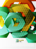 Vector 3d hexagon background. Vector 3d effect hexagon background Stock Photography