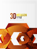 Vector 3d hexagon background. Vector 3d effect hexagon background Royalty Free Stock Photography