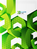 Vector 3d hexagon background. Vector 3d effect hexagon background Stock Image