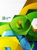 Vector 3d hexagon background Stock Image