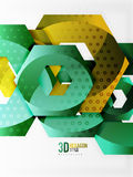 Vector 3d hexagon background. Vector 3d effect hexagon background Stock Photos