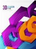 Vector 3d hexagon background Royalty Free Stock Photos