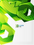 Vector 3d hexagon background. Vector 3d effect hexagon background Stock Photo
