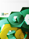 Vector 3d hexagon background. Vector 3d effect hexagon background Stock Images