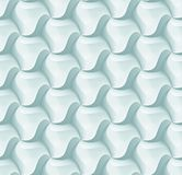 Vector 3d hexagon tile brick pattern for decoration and design tile. royalty free illustration