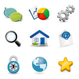 Vector 3D Icon Collection Stock Images