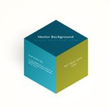 Vector 3d illustration color cube Royalty Free Stock Images