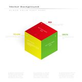 Vector 3d illustration color cube Stock Photography