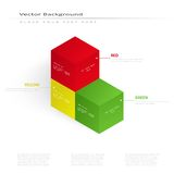 Vector 3d illustration color cubes Stock Photography