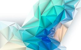 Vector 3D Illustration Geometric, Polygon, Line,Triangle pattern. Shape with molecule structure. Polygonal with yellow, green, blue background. Abstract science stock illustration