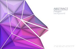 Vector 3D Illustration Geometric, Polygon with molecule structure. Vector 3D Geometric, Polygon, Line, Triangle pattern shape for wallpaper or background Vector Illustration