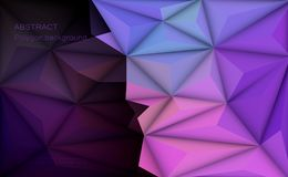 Vector 3D Illustration Geometric, Polygon with molecule structure. Vector 3D Geometric, Polygon, Line, Triangle pattern shape for wallpaper or background Stock Illustration