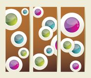 Vector 3D illustration. Modern step origami style options banner Stock Images