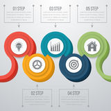 Vector 3d Infographic de la cronología Foto de archivo libre de regalías