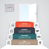 Vector 3d infographic pijlen Malplaatje voor diagram, grafiek, presentatie en grafiek Opstarten van bedrijvenconcept met 4 vector illustratie