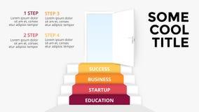 Vector 3d infographic pijlen Malplaatje voor diagram, grafiek, presentatie en grafiek Opstarten van bedrijvenconcept met 4 royalty-vrije illustratie