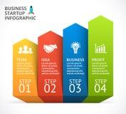 Vector 3D infographic pijlentreden Malplaatje voor chronologiediagram, grafiek, presentatie en grafiek Opstarten van bedrijven stock illustratie