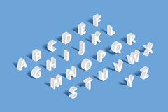 Vector 3d isometric alphabet Stock Photo
