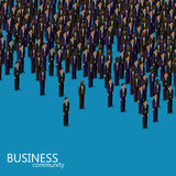 Vector 3d isometric illustration of business or politics community. business men or politicians wearing suits and ties. Royalty Free Stock Photo