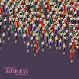 Vector 3d isometric illustration of women business community. business women or politicians. Stock Photo
