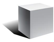 Vector 3d kubus met schaduw Stock Afbeeldingen