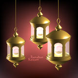 Vector 3D Muslim Oil Lamp. Royalty Free Stock Photos