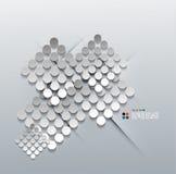 Vector 3d paper circles modern design Royalty Free Stock Image