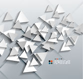 Vector 3d paper triangles Royalty Free Stock Images