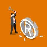 Vector 3d plano de la caída de la violación de derechos de autor de la marca registrada isométrico Fotografía de archivo libre de regalías