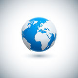 Vector 3D realistic globe icon. Royalty Free Stock Images