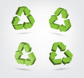 Vector of 3d recycling symbol Collection Stock Photography