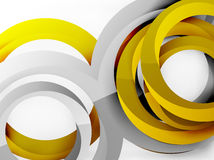 Vector 3d rings design background Stock Photos