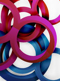 Vector 3d rings design background. Vector 3d rings and swirls design background Royalty Free Stock Photos