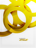 Vector 3d rings design background Royalty Free Stock Photos