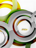 Vector 3d rings design background Stock Photography