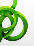 Vector 3d rings design background Stock Photos
