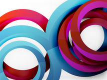 Vector 3d rings design background. Vector 3d rings and swirls design background Royalty Free Stock Photography