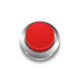 Vector 3d round red web button with metal frame. On white Royalty Free Stock Photos
